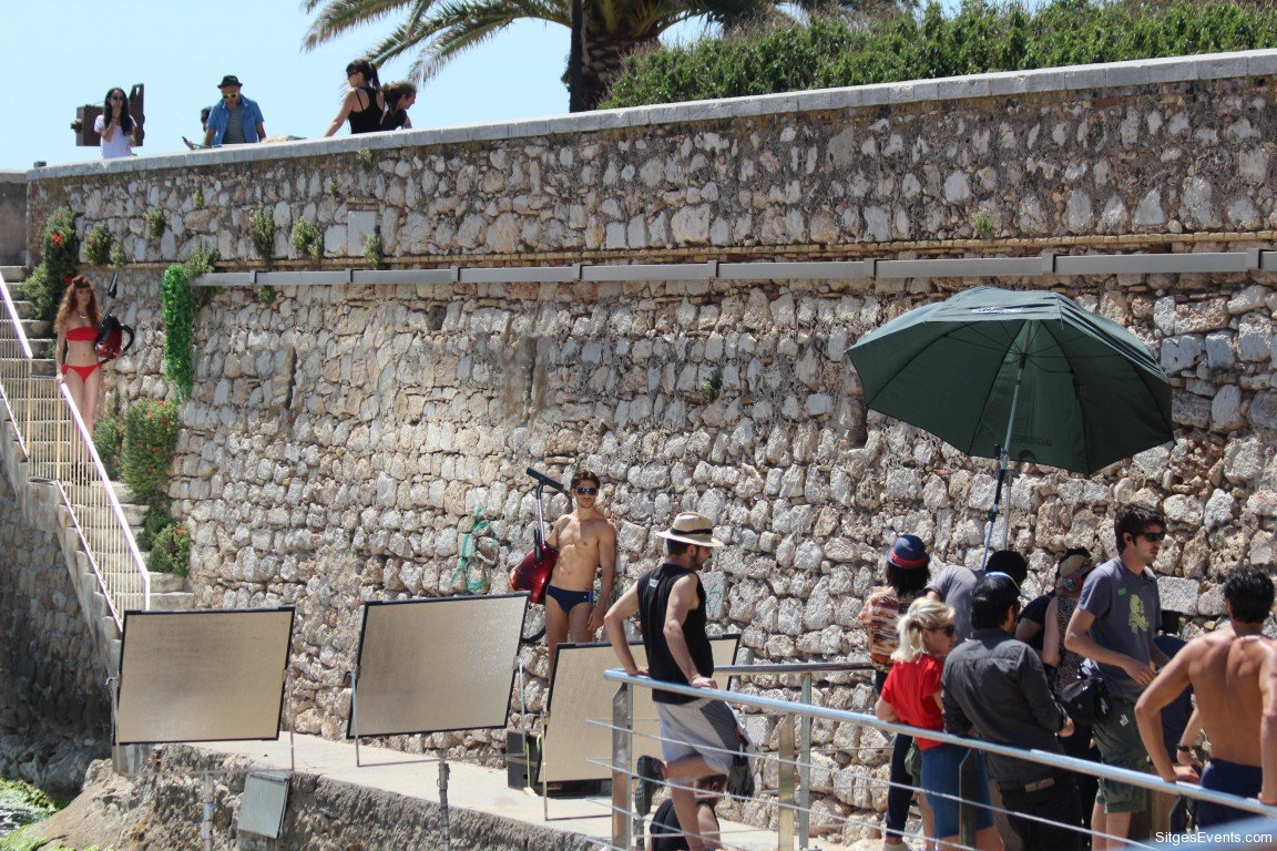 ad filming in Sitges