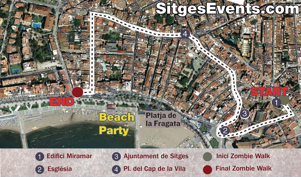 Sitges zombie walk route