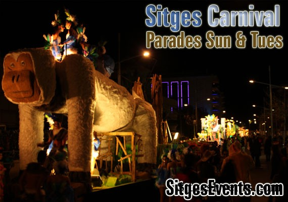 Tue 9th Feb 2016 Carnival Parade Sitges