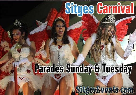 Sun 7th Feb 2015 Carnival Parade Sitges