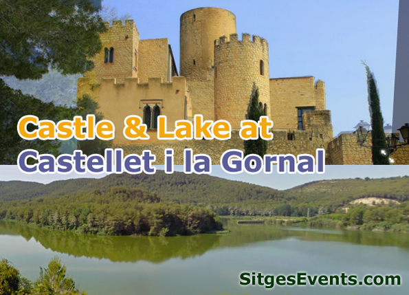 Castle & Lake at Castellet i la Gornal