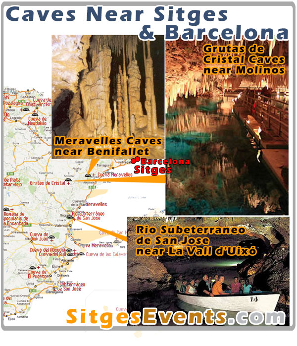 Caves near Sitges : Days Out