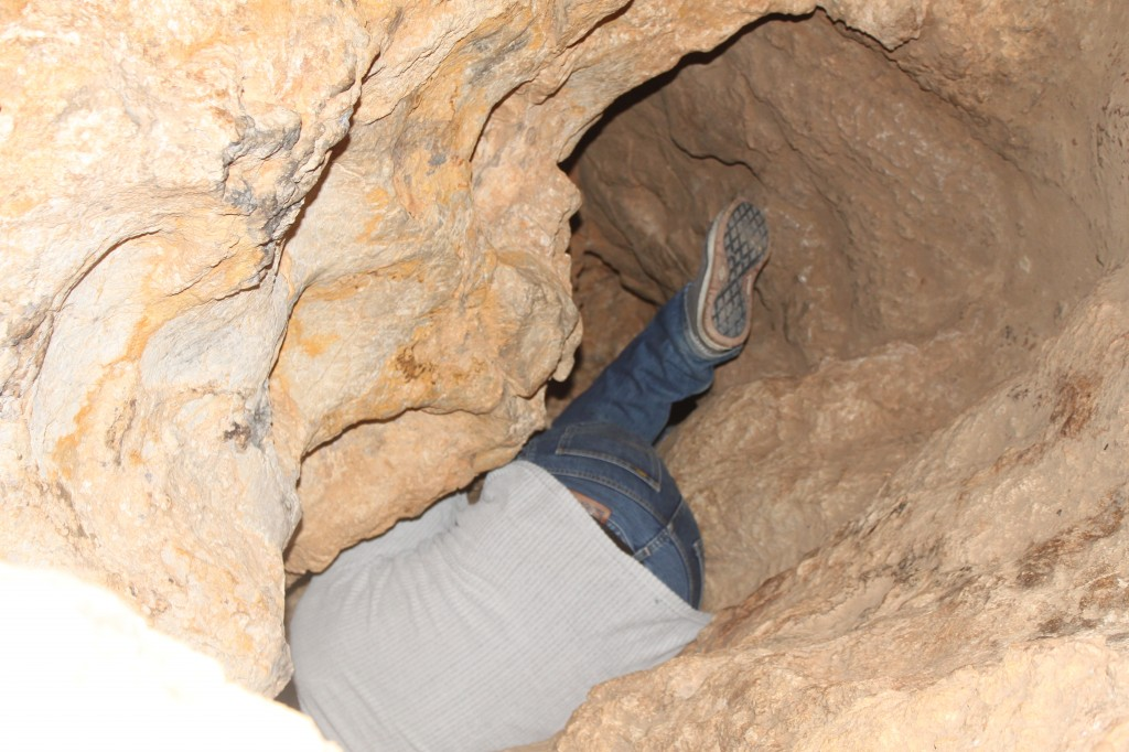 Wiggle into the Black cave near barcelona
