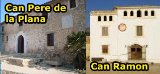 Can Pere de la Plana – Can Ramon : Farmhouses Sitges