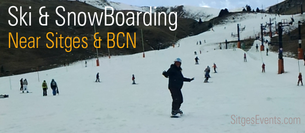 Skiing near Sitges Barcelona