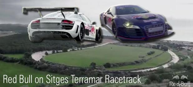 Red Bull on Sitges Terramar Autodrome Racetrack