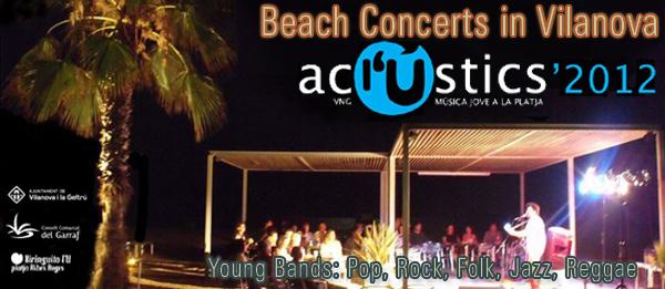 Summer July August Live Music Beach in Vilanova