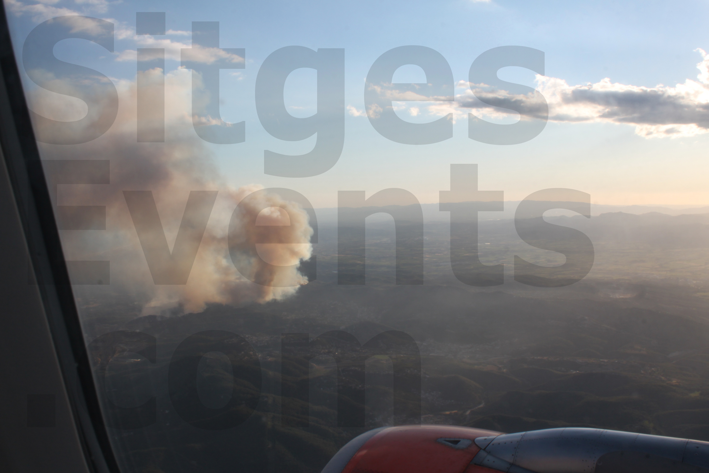 Penedes Garraf Fire near Sitges