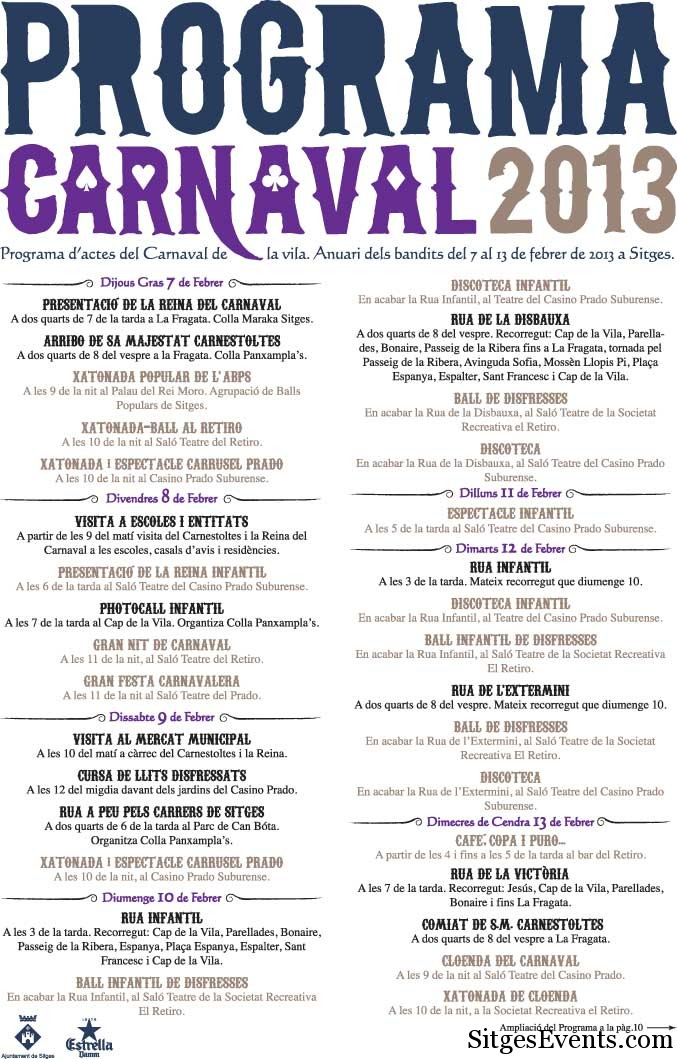 text from Sitges Carnival Guide in English