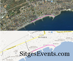 2013 Sitges Gay Pride Route