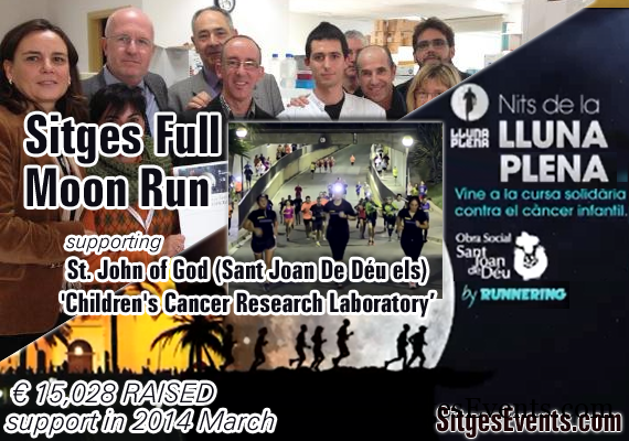 Full Moon Sitges 6k Run or Walk against Childhood Cancer 2014