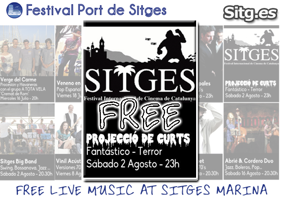 Screening of short-Fantastic Horror – Free Screening – Festival Port de Sitges Marina