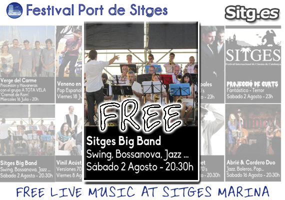 Sitges Big Band Concert Swing Bossanova, Jazz – Free Screening – Festival Port de Sitges Marina