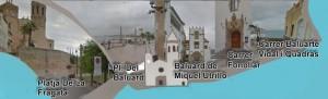 sitges-Placa del Baluard close