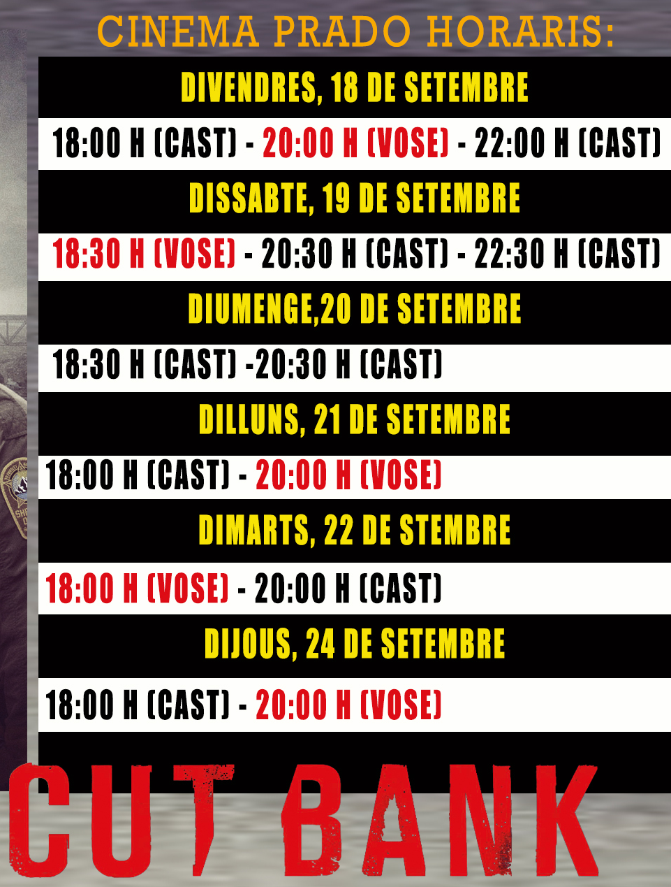 sitges cineam times dates timings