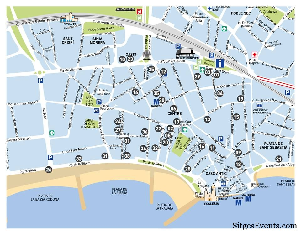 gay sitges map
