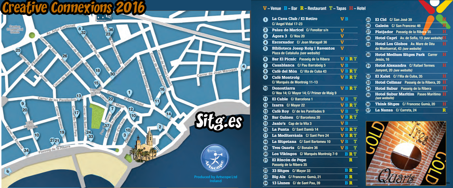 Sitges Irish Catalan Event 2014 Map
