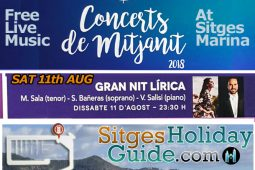 Sat 11th AUG Sitges Midnight Concert Port de Sitges Marina 2018