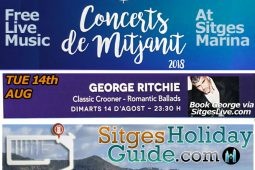 Tue 14th AUG Sitges Midnight Concert Port de Sitges Marina 2018