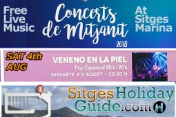 Sat 4th AUG Sitges Midnight Concert Port de Sitges Marina 2018